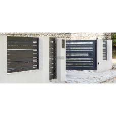 Откатные ворота SELECT серии DECO LINE, размер 3500х2000