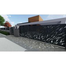 Откатные ворота SELECT серии CREO, размер 5000х2000 мм