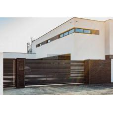 Откатные ворота SELECT серии DECO LINE, размер 4500х2000