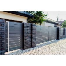 Откатные ворота SELECT серии LINE, размер 3500х2000