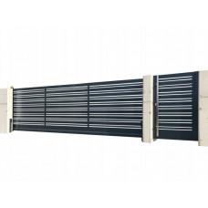 Откатные ворота SELECT серии DECO LINE, размер 4000х2000