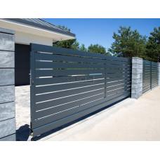 Откатные ворота SELECT серии LINE, размер 5500х2000